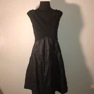 Adrianna Papell Black Evening Swing Party Dress 8P